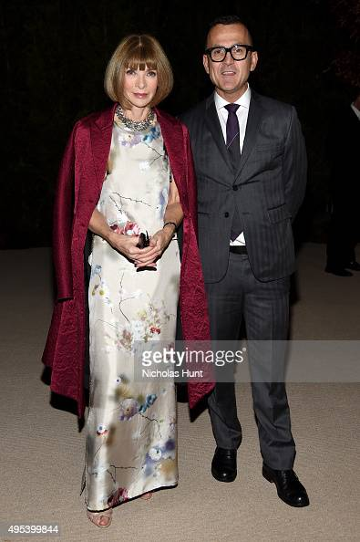 Vogue Editorinchief Anna Wintour and CFDA President Steven Kolb attend the 12th annual CFDA/Vogue Fashion Fund Awards at Spring Studios on November 2...