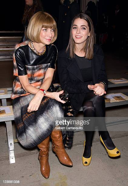 Vogue EditorinChief Anna Wintour and daughter Bee Schaffer attend the Band of Outsiders Fall 2011 fashion show during MercedesBenz Fashion Week at...