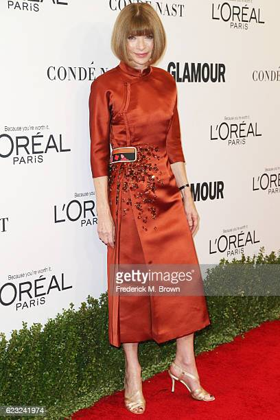 Vogue editorinchief Anna Wintour attends Glamour Women Of The Year 2016 at NeueHouse Hollywood on November 14 2016 in Los Angeles California