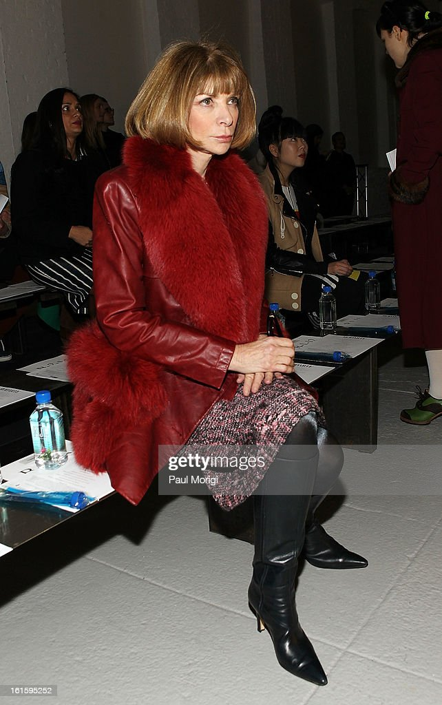 Vogue Editor-in-chief Anna Wintour attends Rodarte during Fall 2013 Mercedes-Benz Fashion Week on February 12, 2013 in New York City.