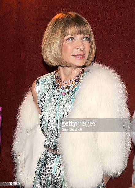 Vogue editorinchief Anna Wintour attends the American Ballet Theatre's 2011 Spring Gala at The Metropolitan Opera House on May 16 2011 in New York...