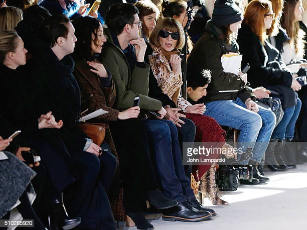 Vogue EditorinChief Anna Wintour attends the Sies Marjan Fall 2016 New York Fashion Week at Ralph Walker Tribeca on February 14 2016 in New York City