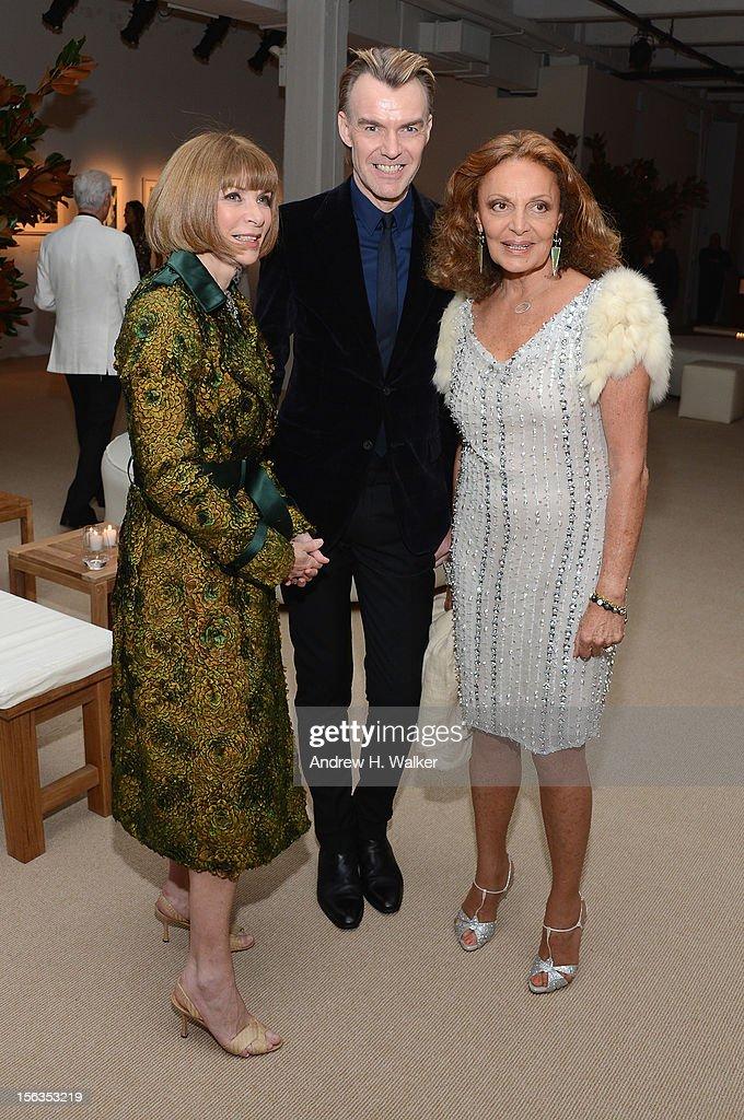 Vogue Editor-in-Chief Anna Wintour, Ken Downing and designer Diane Von Furstenberg attend The Ninth Annual CFDA/Vogue Fashion Fund Awards at 548 West 22nd Street on November 13, 2012 in New York City.