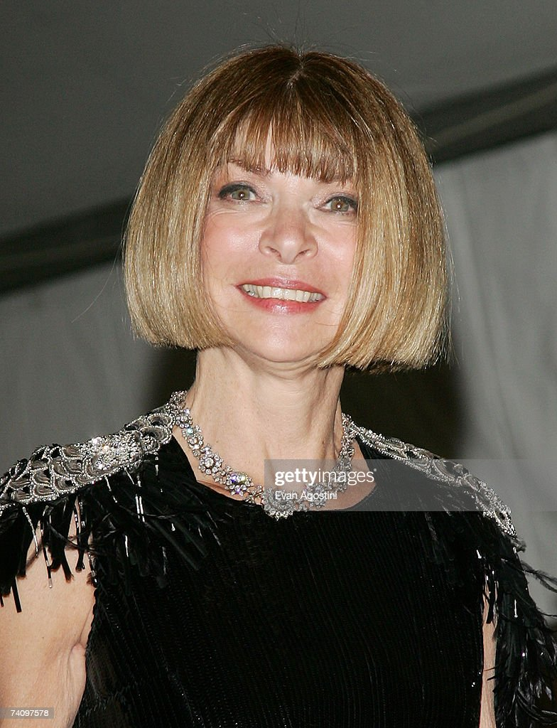 Vogue Editor-in-Chief Anna Wintour leaving The Metropolitan Museum of Art's Costume Institute Gala May 07, 2007 in New York City.