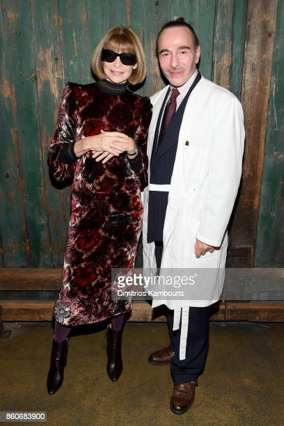 Vogue EIC Anna Wintour and John Galliano attend Vogue's Forces of Fashion Conference at Milk Studios on October 12 2017 in New York City