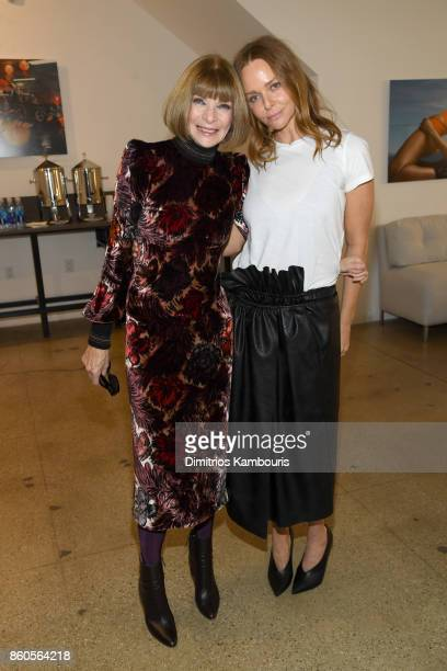 Vogue EIC Anna Wintour and Stella McCartney attend Vogue's Forces of Fashion Conference at Milk Studios on October 12 2017 in New York City