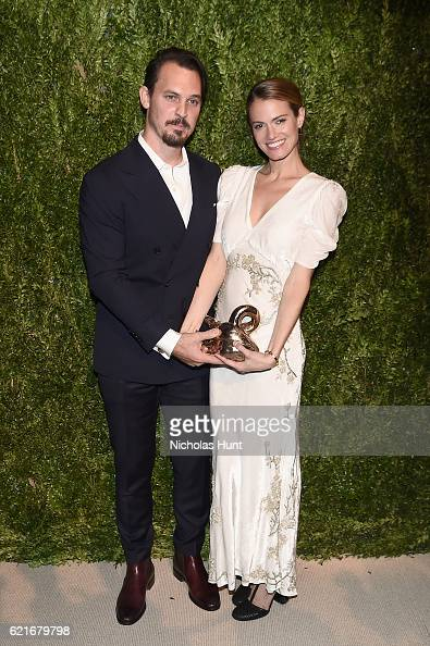 Vogue Fashion Fund winners Kristopher Brock and Laura Vassar attend 13th Annual CFDA/Vogue Fashion Fund Awards at Spring Studios on November 7 2016...