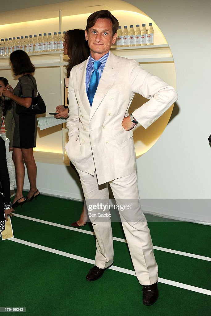 Vogue fashion journalist <a gi-track='captionPersonalityLinkClicked' href=/galleries/search?phrase=Hamish+Bowles&family=editorial&specificpeople=217532 ng-click='$event.stopPropagation()'>Hamish Bowles</a> attends the Lisa Perry presentation during Mercedes-Benz Fashion Week Spring 2014 on September 4, 2013 in New York City.