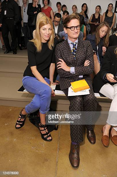 Vogue Fashion Market/Accessories Director Virginia Smith and Vogue European EditoratLarge Hamish Bowles attend the Peter Som Spring 2012 fashion show...