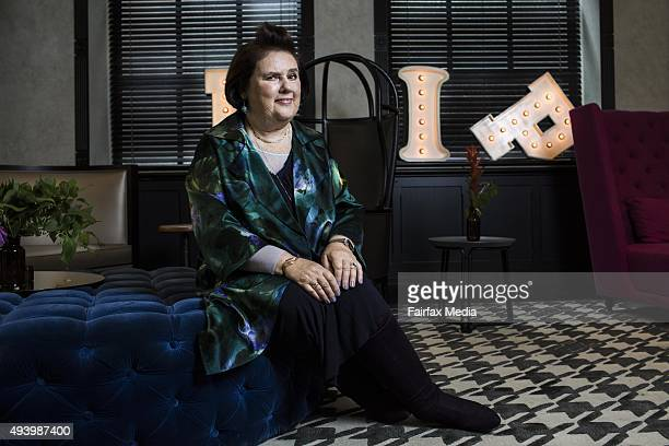Vogue International Editor Suzy Menkes poses during a portrait shoot on October 22 2015 in Sydney Australia Menkes is in Sydney to present the...