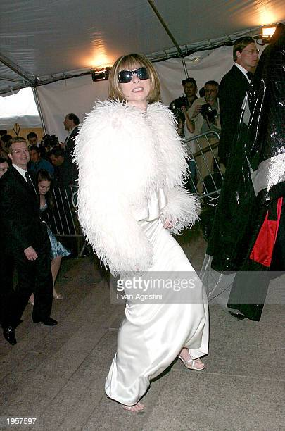 Vogue Magazine editor Anna Wintour arrives at the Metropolitan Museum of Art Costume Institute Benefit Gala sponsored by Gucci April 28 2003 at The...