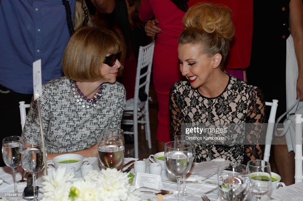 Vogue magazine editor-in-chief <a gi-track='captionPersonalityLinkClicked' href=/galleries/search?phrase=Anna+Wintour&family=editorial&specificpeople=202210 ng-click='$event.stopPropagation()'>Anna Wintour</a> and actress <a gi-track='captionPersonalityLinkClicked' href=/galleries/search?phrase=Nina+Arianda&family=editorial&specificpeople=6796662 ng-click='$event.stopPropagation()'>Nina Arianda</a> attend The Couture Council of The Museum at the Fashion Institute of Technology hosted luncheon honoring Michael Kors with the 2013 Couture Council Award on September 4, 2013 in New York City.