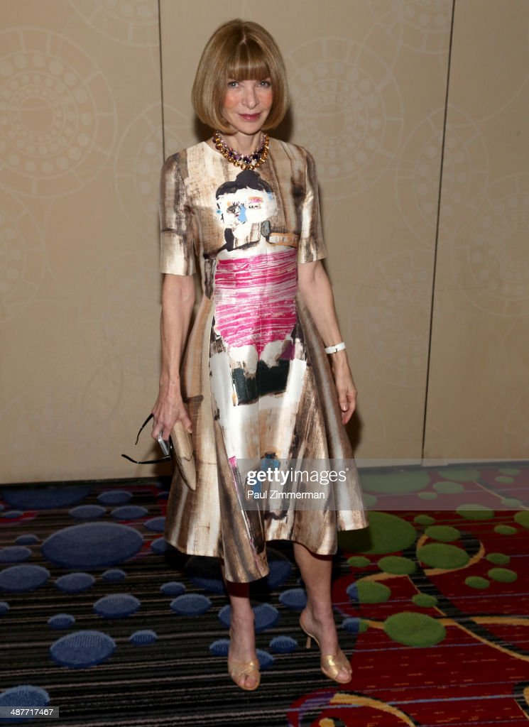 Vogue Magazine editor-in-chief Anna Wintour attends the 2014 National Magazine Awards at The New York Marriott Marquis on May 1, 2014 in New York City.