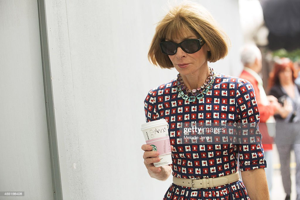 Vogue Magazine editorinchief Anna Wintour enters Vera Wang on Day 6 of New York Fashion Week Spring/Summer 2015 on September 9 2014 in New York City