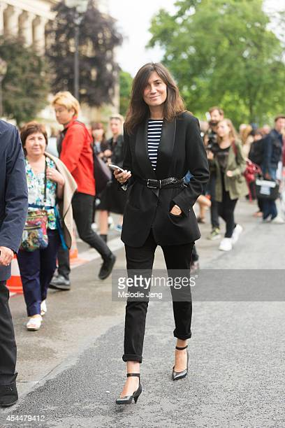 Vogue Paris editorinchief Emanuelle Alt after Chanel on Day 3 of Paris Haute Couture Fashion Week Autumn/Winter 2014 on July 8 2014 in Paris France