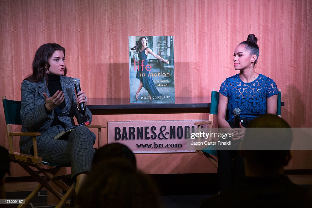 Vogue Social Editor Chloe Malle and ballet dancer Misty Copeland attend Misty Copeland In Conversation With Vogue's Chloe Malle at Barnes & Noble, 86th & Lexington on March 11, 2014 in New York City.