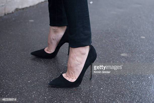 Vogue Spain stylist Marina Gallo day 2 of Paris Haute Couture Fashion Week Spring/Summer 2015 on January 26 2015 in Paris France