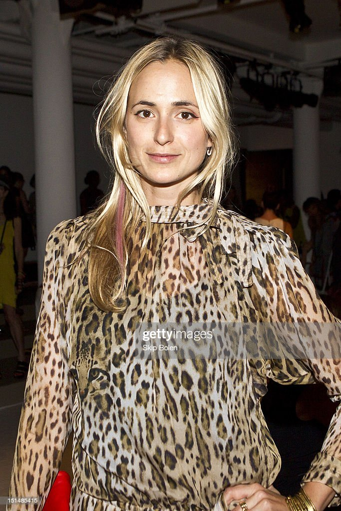 Vogue Style Editor at Large Elisabeth von Thurn und Taxis attends the Suno spring 2013 fashion show during Mercedes-Benz Fashion Week at Milk Studios on September 7, 2012 in New York City.