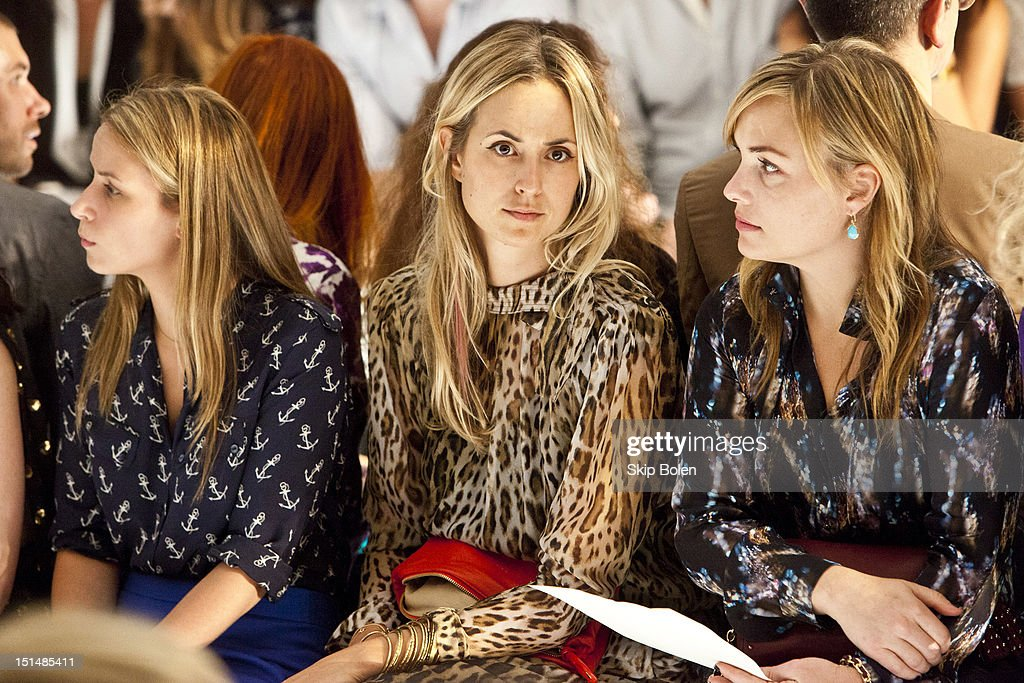 Vogue Style Editor at Large Elisabeth von Thurn und Taxis watches a model on the runway at the Suno spring 2013 fashion show during Mercedes-Benz Fashion Week at Milk Studios on September 7, 2012 in New York City.