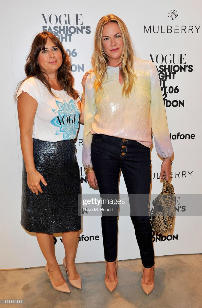 Vogue UK Editor <a gi-track='captionPersonalityLinkClicked' href=/galleries/search?phrase=Alexandra+Shulman&family=editorial&specificpeople=215527 ng-click='$event.stopPropagation()'>Alexandra Shulman</a> (L) and Mulberry Creative Director Emma Hill attend as Mulberry hosts the official launch event for Vogue Fashion's Night Out at their New Bond Street Store on September 6, 2012 in London, England.