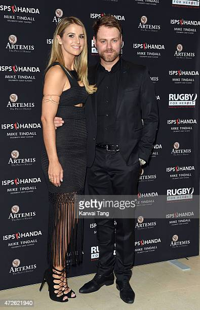 Vogue Williams and Brian McFadden attend the evening reception of the ISPS Handa Mike Tindall 3rd annual celebrity golf classic at The Grove Hotel on...