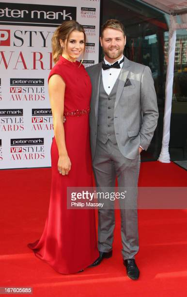 Vogue Williams and Brian McFadden attend the Peter Mark VIP Style Awards at Marker Hotel on April 26 2013 in Dublin Ireland