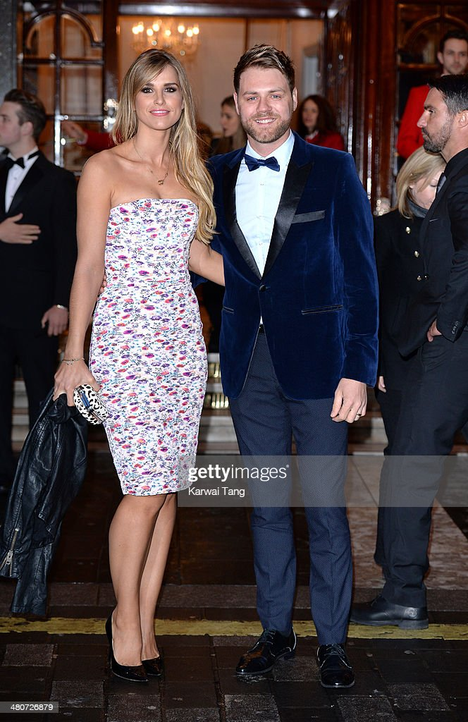 Vogue Williams and Brian McFadden attend the press night of 'I Can't Sing The X Factor Musical' at London Palladium on March 26 2014 in London England