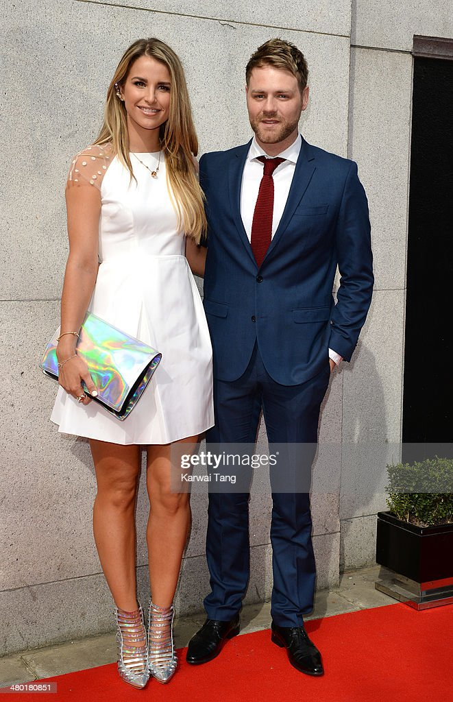Vogue Williams and Brian McFadden attend the Tesco Mum of the Year awards at The Savoy Hotel on March 23, 2014 in London, England.