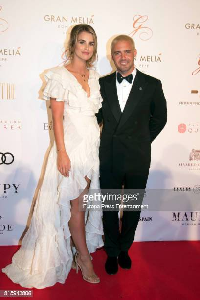 Vogue Williams and Spencer Matthews attend the Global Gift Gala 2017 red carpet at Gran Melia Don Pepe Resort on July 16 2017 in Marbella Spain