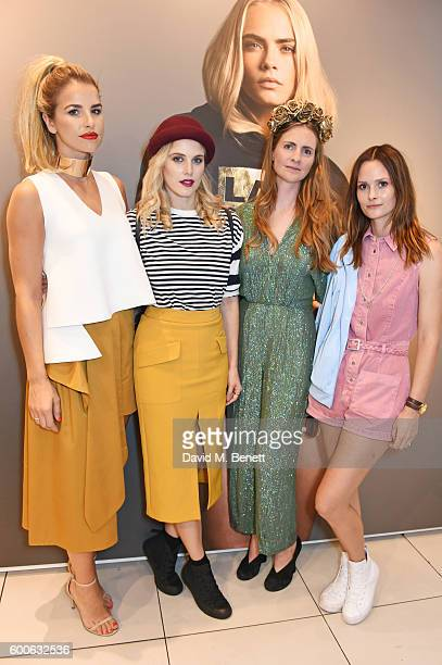 Vogue Williams Ashley James Chloe Delevingne and Charlotte de Carle attend the launch of the Lady Garden x Topshop collection in support of the...
