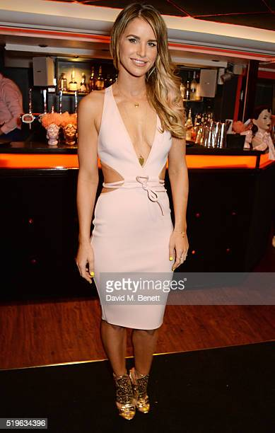 Vogue Williams attend the launch of 'Good Ship Benefit' a beauty and entertainment destination opening on the River Thames and run by Benefit...