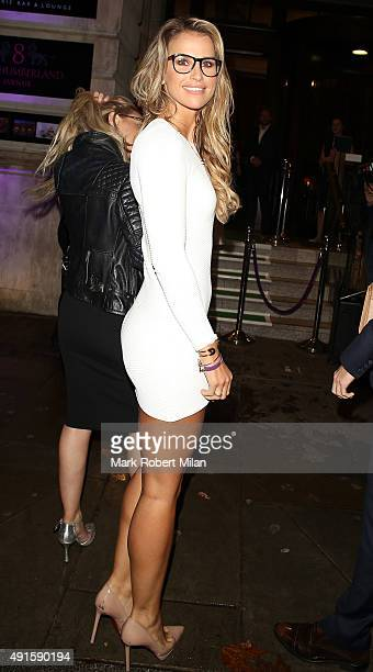 Vogue Williams attending the Specsavers 'Spectacle Wearer of the Year' party on October 6 2015 in London England