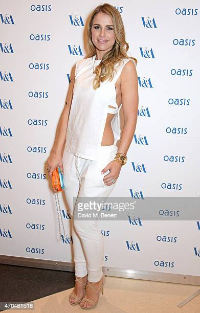 Vogue Williams attends as Oasis and The Victoria and Albert Museum unveil their exclusive print inspired collection at The Victoria and Albert Museum...
