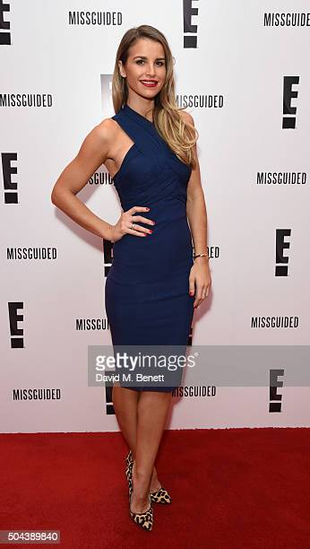 Vogue Williams attends E's Live From The Red Carpet Golden Globes Watch Along Party at St Martin's Lane Hotel on January 10 2016 in London England