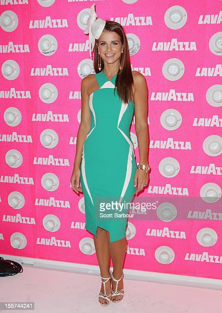 Vogue Williams attends the Lavazza marquee on Crown Oaks Day at Flemington Racecourse on November 8 2012 in Melbourne Australia