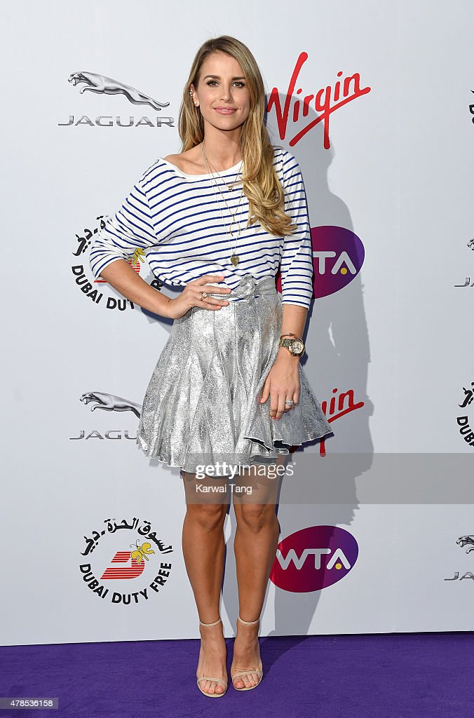 Vogue Williams attends the WTA PreWimbledon Party at Kensington Roof Gardens on June 25 2015 in London England