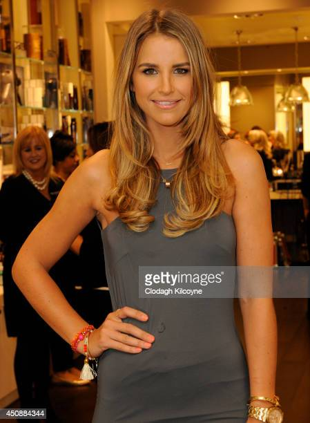 Vogue Williams DJs at the Space NK Grafton Street launch party on June 19 2014 in Dublin Ireland