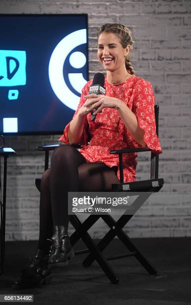 Vogue Williams joins BUILD for a live interview at their London studio at AOL on March 21 2017 in London United Kingdom