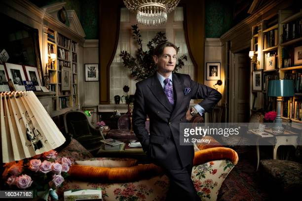 Vogue's international editor at large Hamish Bowles is photographed for Out Magazine on October 9 2012 at home in New York City PUBLISHED IMAGE