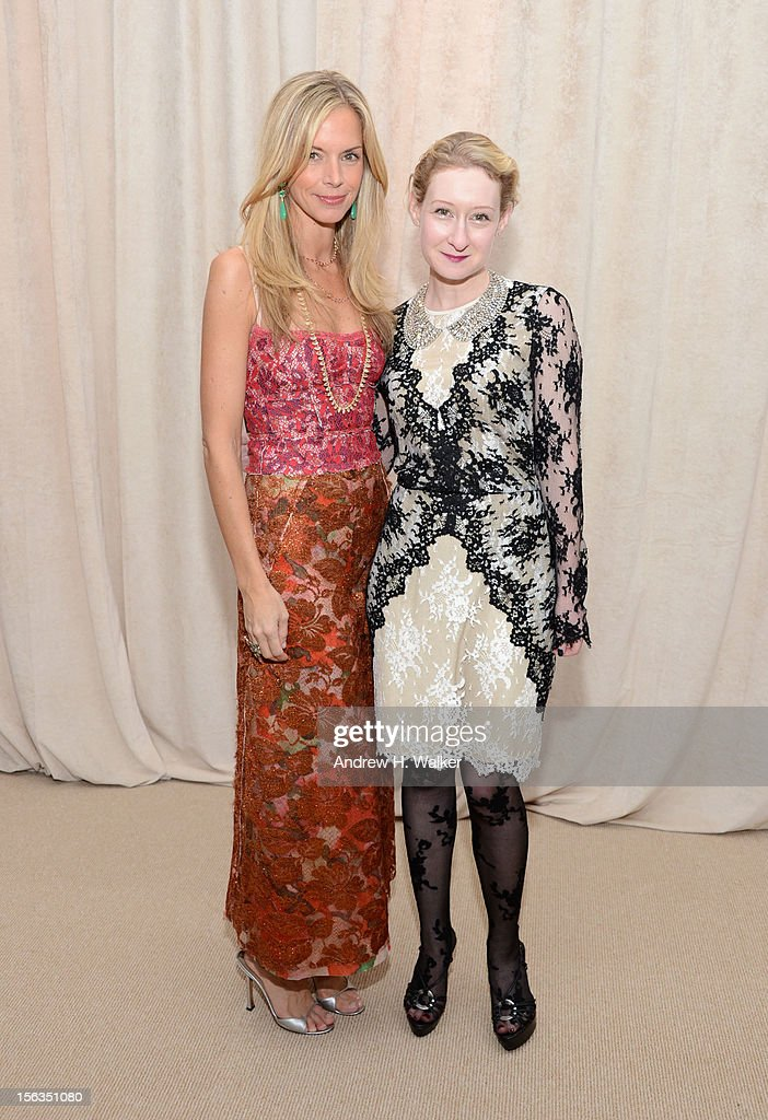 Vogue's <a gi-track='captionPersonalityLinkClicked' href=/galleries/search?phrase=Meredith+Melling+Burke&family=editorial&specificpeople=216377 ng-click='$event.stopPropagation()'>Meredith Melling Burke</a> and Sara Brown attend The Ninth Annual CFDA/Vogue Fashion Fund Awards at 548 West 22nd Street on November 13, 2012 in New York City.