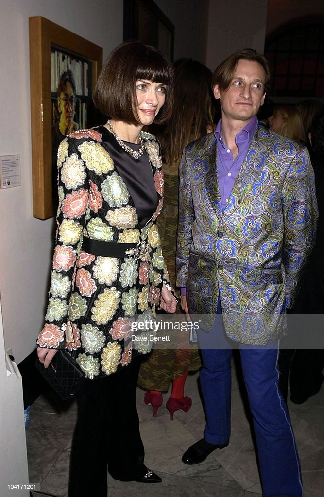 Vogues New York Editor Anna Wintour With Stylist Hamish, Fashion Photographer Mario Testino Attracted All The Most Glamorous Women In London To His Exhibition At The National Portrait Gallery.