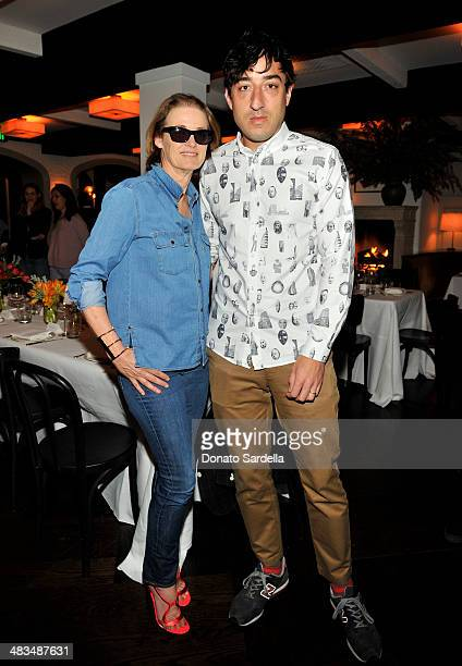 Vogue's West Coast Editorial Director Lisa Love and musician Ed Droste attend the Vogue 'Jean Stories' dinner hosted by Sally Singer Lisa Love Greg...