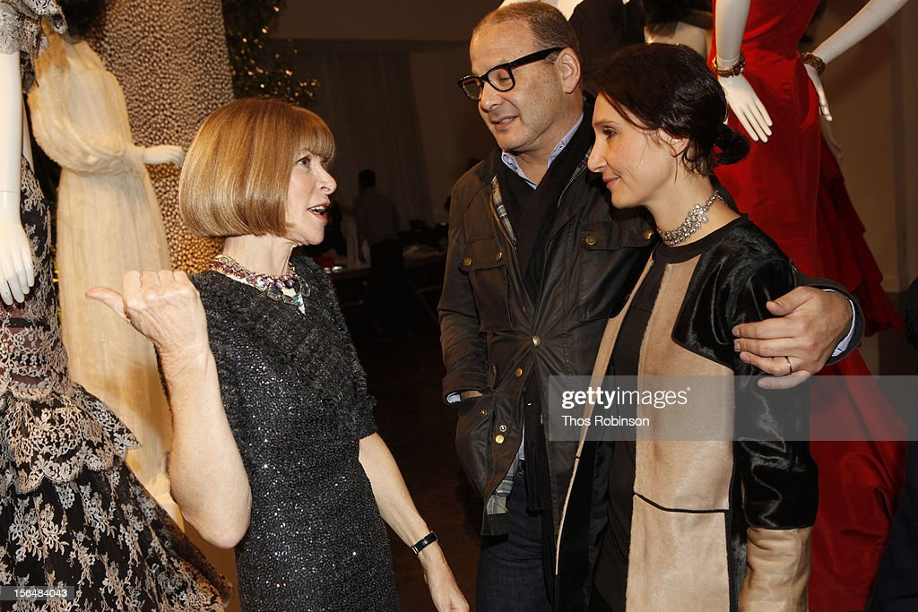 Vogur editor in chief, <a gi-track='captionPersonalityLinkClicked' href=/galleries/search?phrase=Anna+Wintour&family=editorial&specificpeople=202210 ng-click='$event.stopPropagation()'>Anna Wintour</a>, designer Reed Krakoff and his wife Delphine attend Fashion For Sandy Relief at Metropolitan Pavilion on November 15, 2012 in New York City.