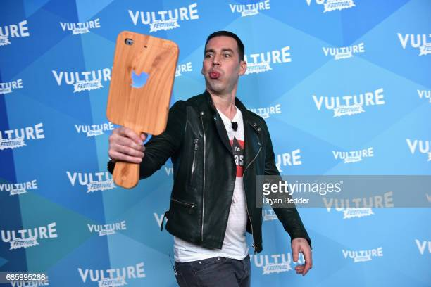 Voice actor John Roberts attends Saturday Morning Cartoons in the ATT Studio at the 2017 Vulture Festival at Milk Studios on May 20 2017 in New York...