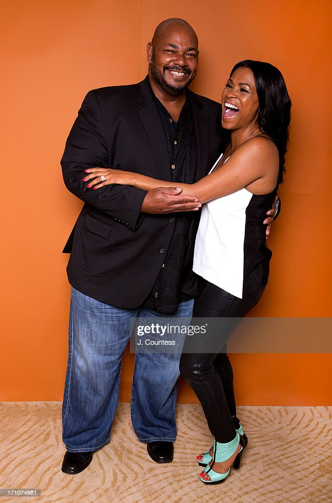 Voice actor Kevin Michael Richardson and actress Nia Long pose during the 2013 American Black Film Festival on June 20, 2013 in Miami, Florida.