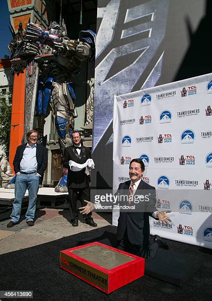 Voice actor Peter Cullen attends the Transformer Optimus Prime Hand/Footprint Ceremony at TCL Chinese Theatre IMAX on September 30 2014 in Hollywood...
