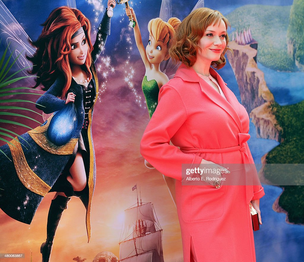 Voice actress Christina Hendricks attends Disney's 'The Pirate Fairy' World Premiere at Walt Disney Studios on March 22, 2014 in Burbank, California. On Blu-ray and Digital HD April 1.