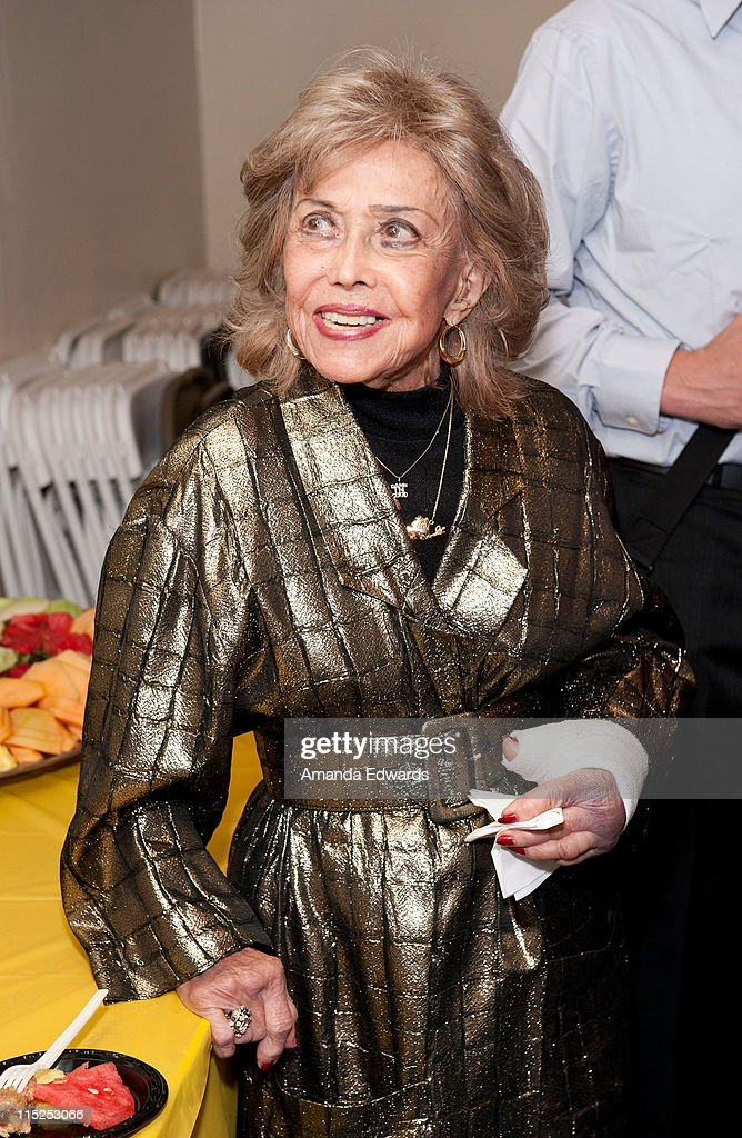 Voice actress June Foray attends a reception before being presented with the Crystal Anvil Award for Outstanding Contribution to Animation at the UCLA Animation Workshop Festival of Animation at the James Bridges Theater at Melnitz Hall on the UCLA campus on June 4, 2011 in Los Angeles, California.