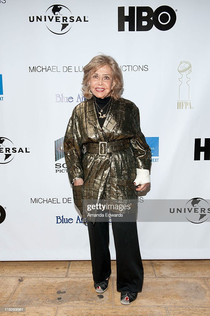 Voice actress June Foray poses for a photo before being presented with the Crystal Anvil Award for Outstanding Contribution to Animation at the UCLA Animation Workshop Festival of Animation at the James Bridges Theater at Melnitz Hall on the UCLA campus on June 4, 2011 in Los Angeles, California.