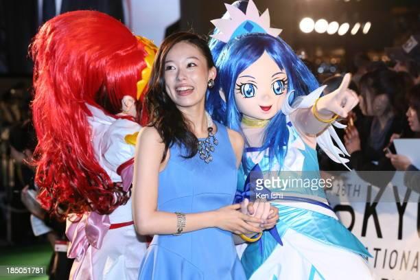 Voice actress Kanako Miyamoto attends the Tokyo International Film Festival Opening Ceremony on October 17 2013 in Tokyo Japan